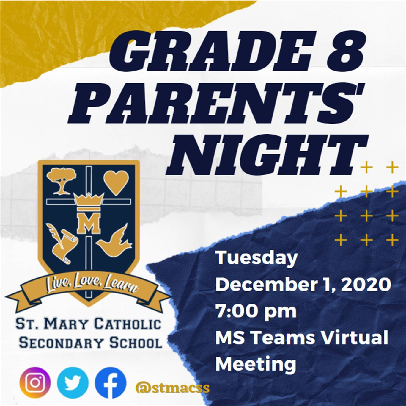 Grade 8 Parent Night Links and Video